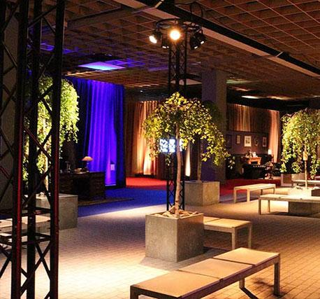 Rideaux pour salles de réceptions, salon, foire et expositions