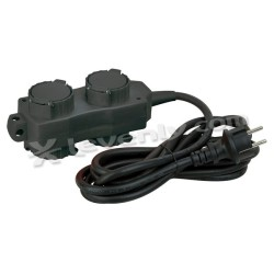 Acheter BLOC MULTIPRISES 2+2 NOIR, MULTISOCKET SCHUKO 2+2-WAY SHOWTEC