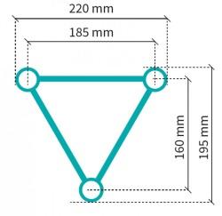 Acheter S22T-C203, STRUCTURE ALUMINIUM STAND SIXTY82