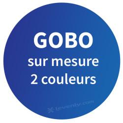 Acheter GOBO SUR MESURE 2 COULEURS, PERSONNALISATION NICOLS