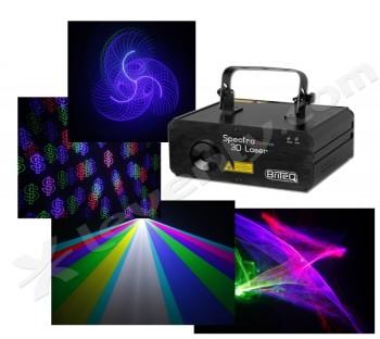 Acheter SPECTRA 3D LASER, LASER MULTICOULEURS D'ANIMATIONS BRITEQ au meilleur prix sur LEVENLY.com