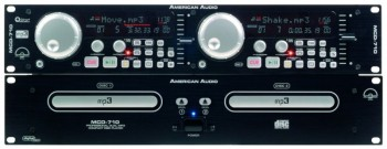 MCD-710PLATINE DOUBLE CD/MP3 AMERICAN AUDIO